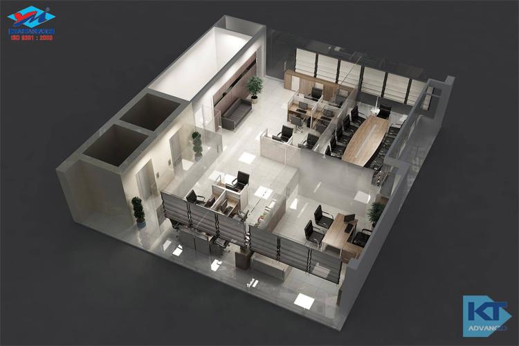 Thiết kế văn phòng Ý Mỹ